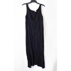 Unbranded 100% Rayon Black Midi Summer Dress